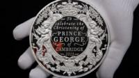One of the commemorative coins