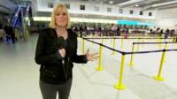 Steph McGovern at Manchester Airport