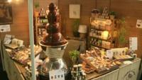 Chocolate on display at a trade fair