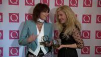 Chrissie Hynds and Ellie Goulding on the red carpet at the Q Awards in London