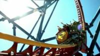 Rollercoaster ride in US