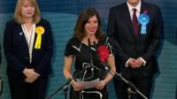 Cara Hilton making victory speech