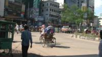 An intersection in Dhaka