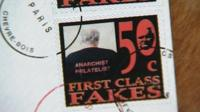 A fake stamp created by Angus McDonagh