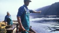 Fishermen off Tristan de Cunha