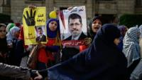 Supporters of Mohammed Morsi protesting
