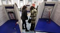 Votes are cast in New York