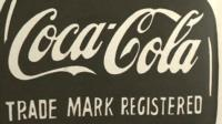 Detail from Andy Warhol's Coca Cola artwork