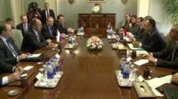 Egyptian and Russian ministers meeting in Cairo