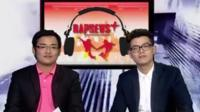 The two presenters of Rap News Plus