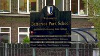 Battersea Park School sign