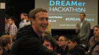 Mark Zuckerberg at a 'hackathon' for undocumented immigrant students