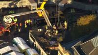 Aerial view, Clutha pub rescue operation
