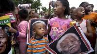 Mourner in Soweto