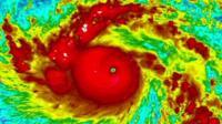 Satellite image of Typhoon Haiyan