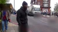 Screenshot from amateur video taken on day of Lee Rigby murder
