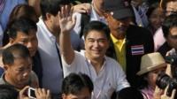 Democrat party leader Abhisit Vejjajiva
