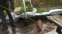 Flooded pub