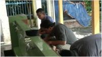 Muslims preparing for prayer in Malaysia