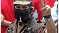 Subcomandante Marcos, leader of the Zapatista rebels