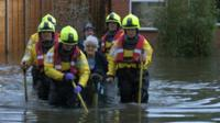 Floodwater in Purley