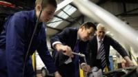 George Osborne meets a mechanic