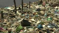 Rubbish on Guanabara Bay