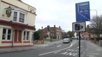 Bus lane in Colchester