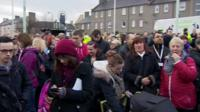 People gather to join search party in Edinburgh