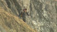 Man near cliffs in Dorset