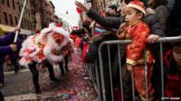 Chinese New Year parade, New York, 2 February 2014