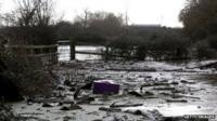 A flood hit area