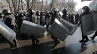 Riot police in Kiev