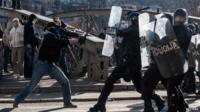 Protesters clash with police in Sarajevo