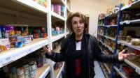 Edwina Currie in food bank