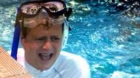 Mike Bushell tries underwater rugby