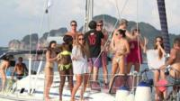 Expats on a boat