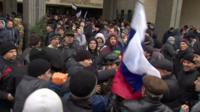 Scuffles in Crimea
