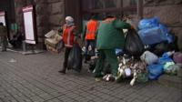 Street cleaners in Ukraine, file pic