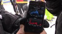 Smartphone app with altitude and speed measurements