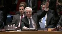 Russia votes to veto a draft UN resolution