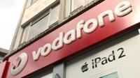 Vodafone shop sign