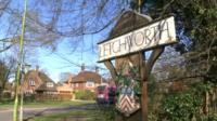 Letchworth sign