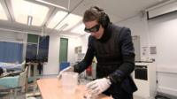 BBC's Nick Beake tries age simulation suit