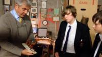 Bangor Grammar pupils speak to their school's archivist
