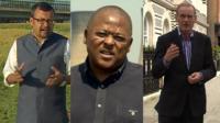 Sanjoy Majumder, Milton Nkosi and Roger Harrabin