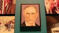 George Bush portraitr of Vladimir Putin