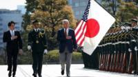 Chuck Hagel and Japanese Defense Minister Itsunori Onodera