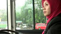 Female bus driver