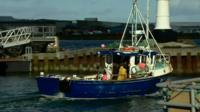A fishing boat at the Orkney islands